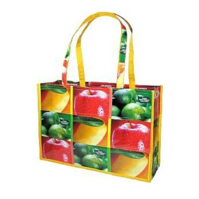 Wonderful shopping bags made from recycled juice cartons