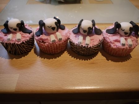 Sleeping Puppy Cupcakes