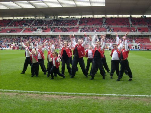 Dancing at Middlesbrough FC Riverside Stadium