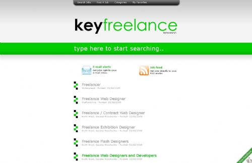 Keyfreelance website design and development.