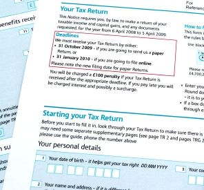 Self assessment tax returns.