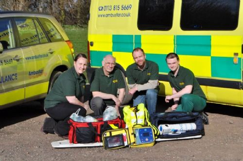 Some of our staff with some equipment