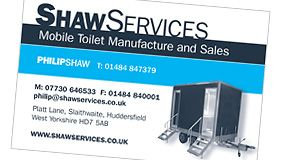 Shaw Services Business Card Design