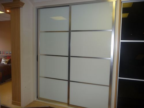 Japanese stylish glass contemporary sliding wardrobe doors
