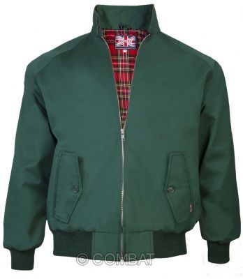Green Harrington Jacket Combat