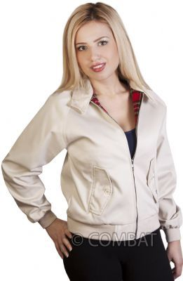 Girls Beige Harrington Jacket