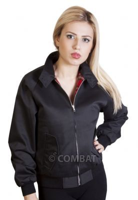Girls Black Harrington Jacket