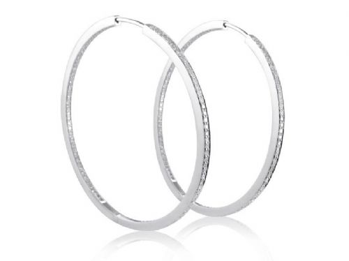 Diamond Studded Hoop Earrings