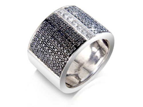 Black & White Diamond Designer Ring
