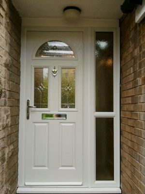 Comosite Door and Side panel in White