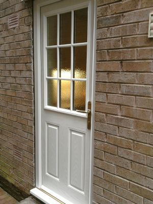 Composite Door in White