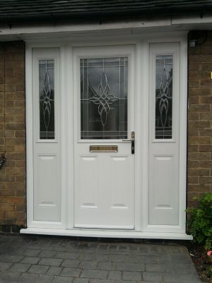 Composite Door and double side panel in white