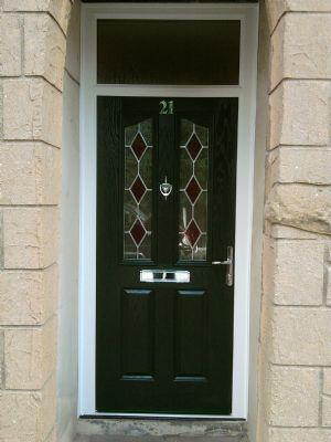 Composite door in Green