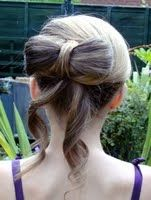 Beautiful Bow updo