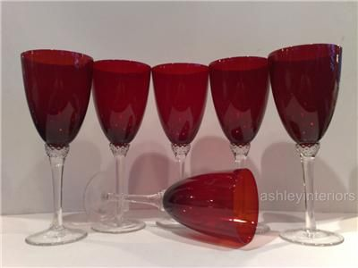 Ruby Red Wine Glasses