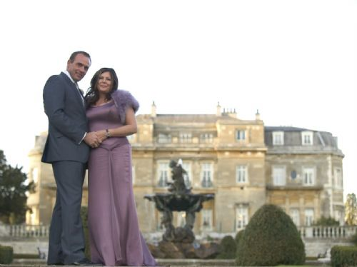 Bride and groom: Luton Hoo.