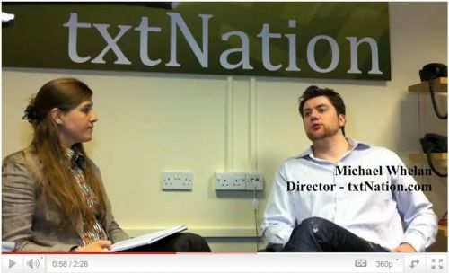 Interview with txtNation Director Michael Whelan - can view on YouTube