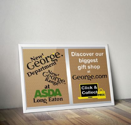 George flyer design and print for ASDA