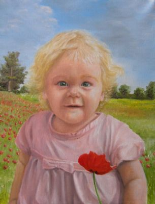 A portrait of a littl girl called Poppy.