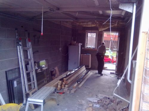 Garage conversion.