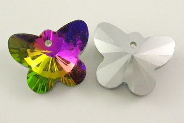 Butterfly Crystal Glass Charms/Pendants