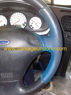 John Gibbons Fiesta Zetec Steering wheel before