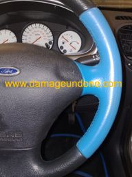 John Gibbons Fiesta Zetec Steering wheel repaired