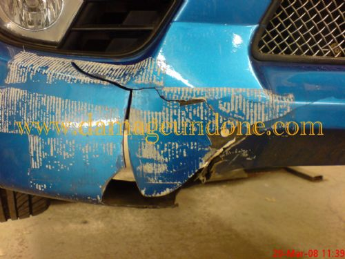 Fiesta cracked bumper kit before