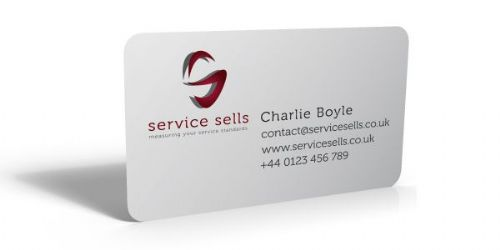 Service Sells Business Cards