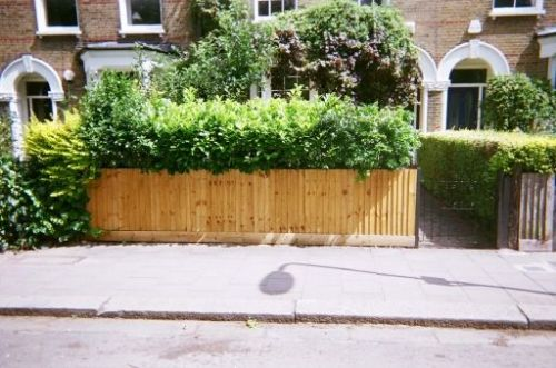 Front gardens can easily be refurbished