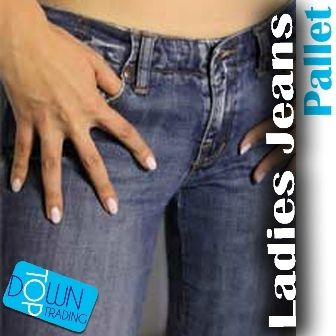 Ladies Ex Chain Store Mixed Denim Jeans Pallet - Assorted Colours