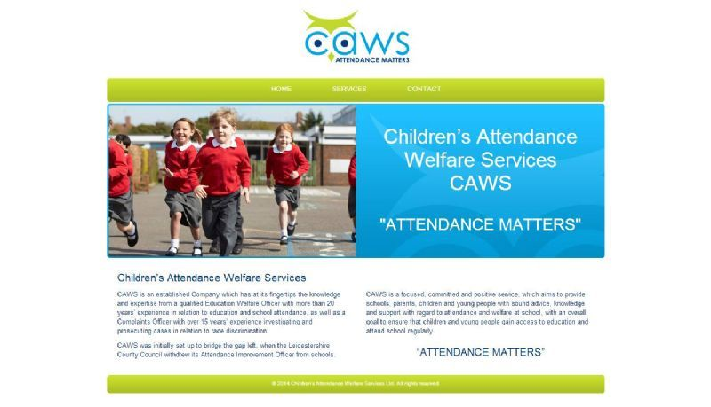 CAWS Website and Logo Design
