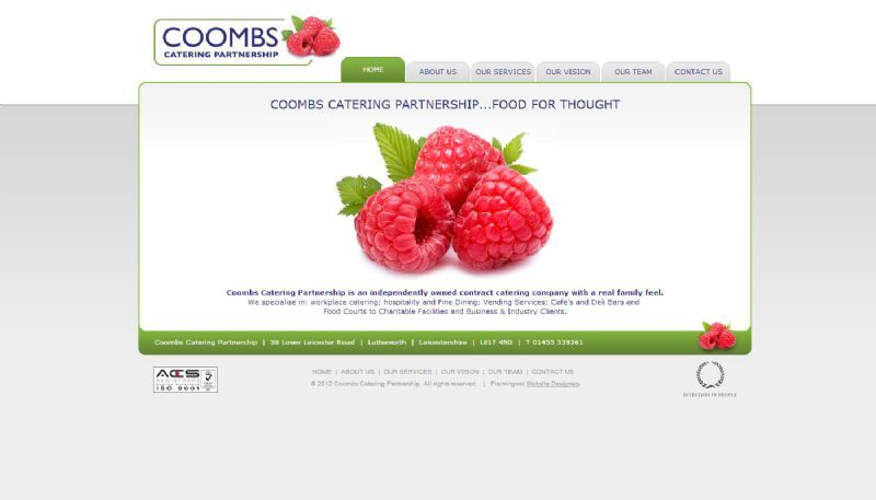 Coombs Catering Partnership Website and Logo Design