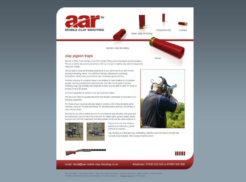 AAR Shooting Website Design