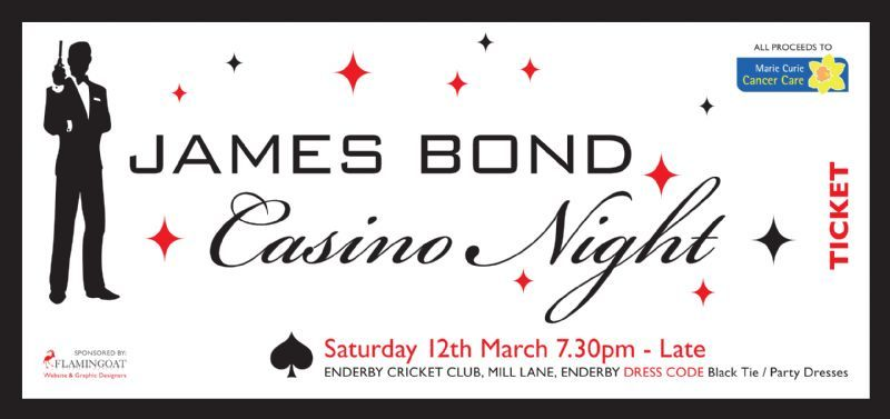 James Bond Casino Night Ticket