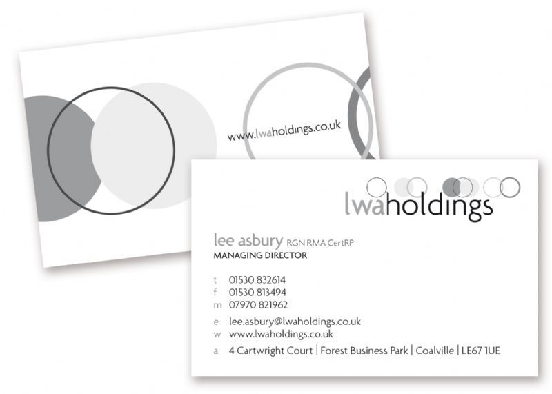 LWA Holdings Business Card Design