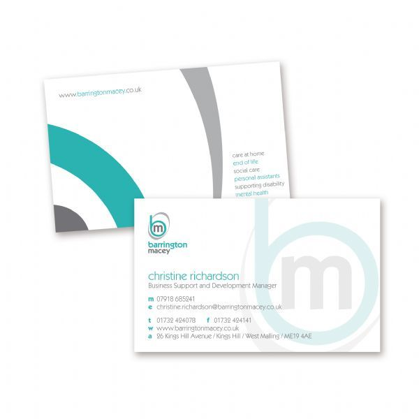 Barrington Macey Business Card Design
