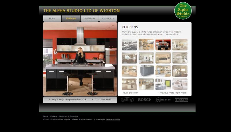 The Alpha Studion Website Design