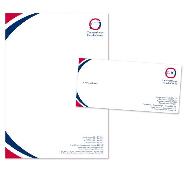 Countesthorpe Health Center Letterhead and Compliment Slip Design
