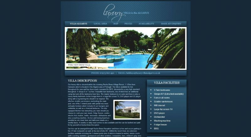 Luxury Villa Algarve Website Design