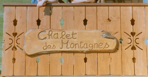 Sign at the chalet