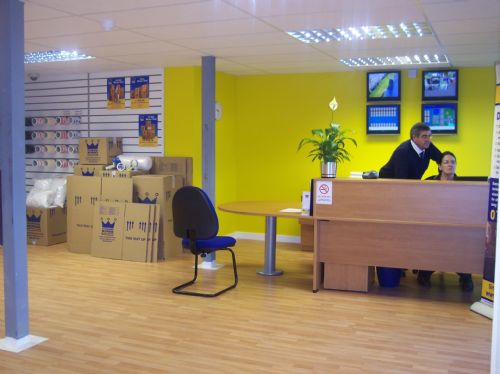 Our Reception Area and Packaging Shop