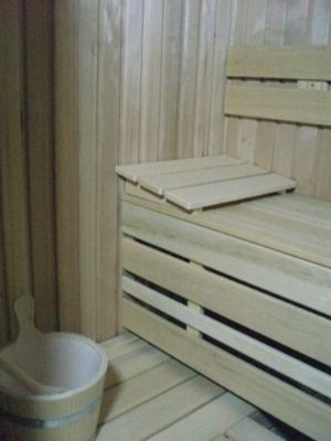 Sauna domestic hemlock.