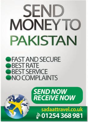 Money transfer to pakistan.