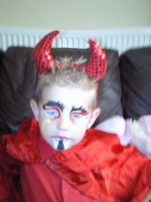 Face painting - devil.