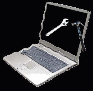 Laptop service.