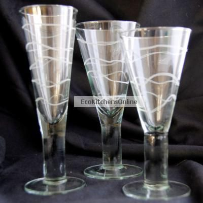 Stylish glasses from recycled glass