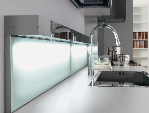 Energy saving splashback lighting