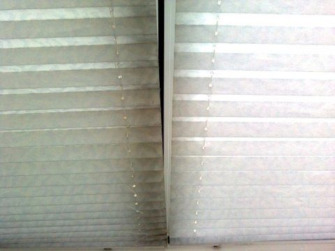 Conservatory Pleated Shades Before and After Clean x 14