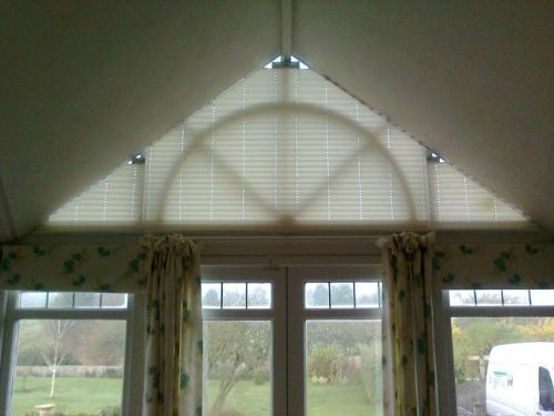 Supply and Fitted Pleated Shades Specially Designed x 3